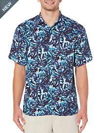 Cubavera® All-Over Leaf Blueprint Sport Shirt