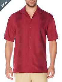 Cubavera® Geometric Pattern Sport Shirt
