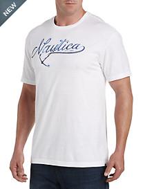 Nautica® White Logo Tee