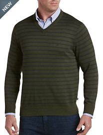 Nautica® Stripe V-Neck Sweater