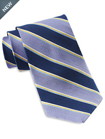 Gold Series® Designed in Italy Large Multi-Stripe Silk Tie