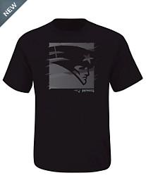NFL New England Patriots Black Logo Graphic Tee