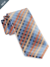 Geoffrey Beene® Moonbeam Plaid Tie