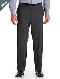 Geoffrey Beene® Plaid Flat-Front Suit Pants