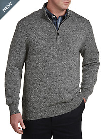 Oak Hill® Marled ¼-Zip Sweater