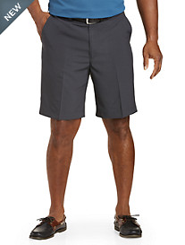 Oak Hill® Flat-Front Check Microfiber Shorts