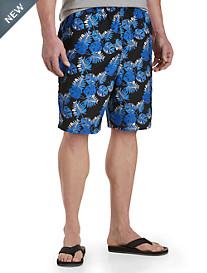 Island Passport® Abstract Floral-Print Swim Trunks