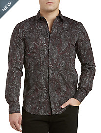 Perry Ellis® Speckle Paisley-Print Sport Shirt