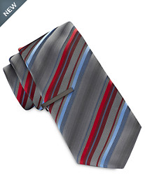 Gold Series Multi Stripe Tie With Tie Bar