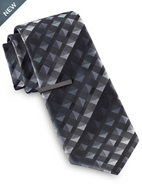 Gold Series Tonal Geo Grid Tie With Tie Bar