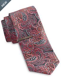 Gold Series Dark Tonal Paisley Tie