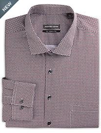 Geoffrey Beene® Dot-Print Dress Shirt