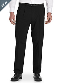 Gold Series Perfect Fit Waist-Relaxer® Unfinished Pleated Suit Pants