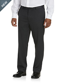 Gold Series Perfect Fit Waist-Relaxer® Luster Sateen Hemmed Flat-Front Suit Pants