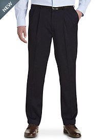 Gold Series Perfect Fit Waist-Relaxer® Luster Sateen Hemmed Pleated Suit Pants