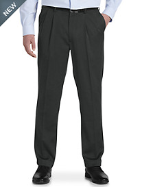 Gold Series Perfect Fit Waist-Relaxer® Luster Sateen Unfinished Pleated Suit Pants