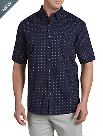Harbor Bay® Easy-Care Dot-Patterned Sport Shirt