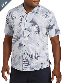 Harbor Bay® Floral Leaf-Print Sport Shirt