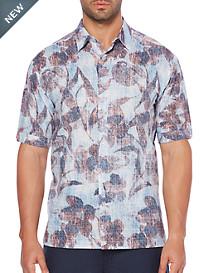Cubavera® Leaf Print Sport Shirt