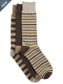 Harbor Bay® 3-pk Stripe-Pattern Crew Socks