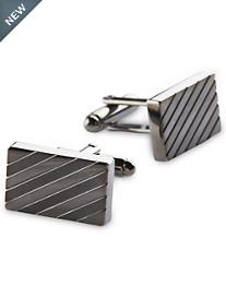 Gold Series Gunmetal Stripe Cuff Links