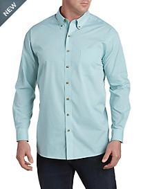 Harbor Bay® Gingham-Print Sport Shirt