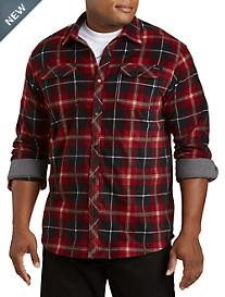 O'Neill Glacier Plaid Super Fleece Flannel Shirt