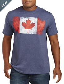 Distressed Canadian Flag Graphic Tee