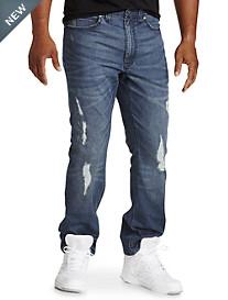Denim Jeans with Destruction Details
