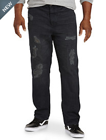 True Nation® Distressed Straight-Fit Jeans