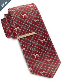 Gold Series Reindeer Plaid Holiday Tie