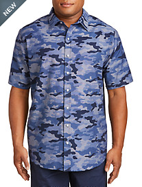 True Nation® Camo-Print Chambray Sport Shirt
