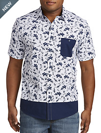 True Nation® Tropical Print Sport Shirt