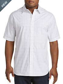 Synrgy™ Space-Dye Small Plaid Sport Shirt