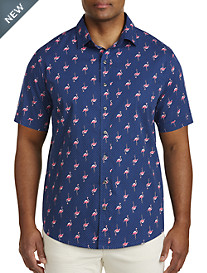 Synrgy™ Flamingo Print Sport Shirt