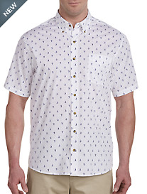 Harbor Bay® Easy-Care Sailboat Print Sport Shirt