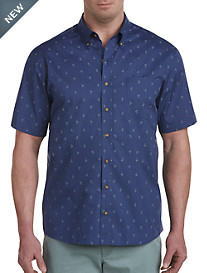 Harbor Bay® Easy-Care Palm Print Sport Shirt