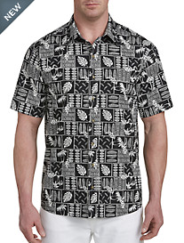 Harbor Bay® Tropical Batik Print Sport Shirt