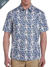 Harbor Bay® Multi Leaf Print Sport Shirt