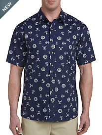 Harbor Bay® Nautical Print Sport Shirt