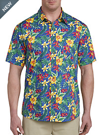 Harbor Bay® Bright Floral Print Sport Shirt