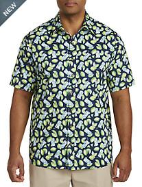Harbor Bay® Lime Floral Print Sport Shirt