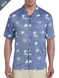 Island Passport® Turtle Print Sport Shirt
