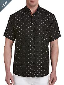 Synrgy™ Triangle Print Microfiber Sport Shirt