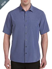 Synrgy™ Stripe & Check Microfiber Sport Shirt