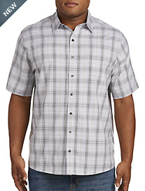 Harbor Bay® Microfiber Plaid Sport Shirt