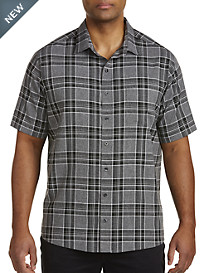 Harbor Bay® Large Plaid Microfiber Sport Shirt