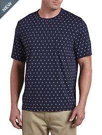 Harbor Bay® Navy Geo-Print Pocket Tee