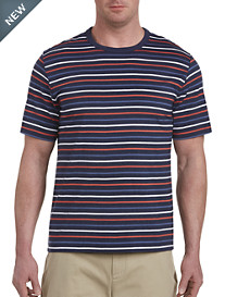 Harbor Bay® No-Pocket Small Multi Stripe Tee-New and Improved Fit