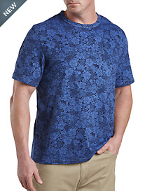 Harbor Bay® Blue Floral Print No-Pocket Tee